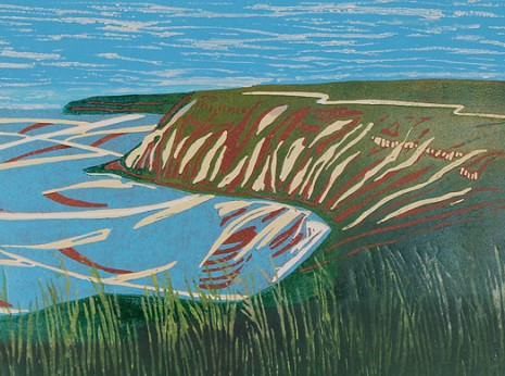 across the bay, artist high hesket cumbria, printmaker high hesket cumbria, illustrator high hesket cumbria, janice early, rookery studio