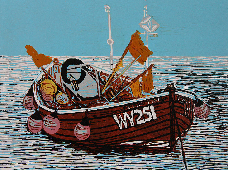 flora jane and buoys, artist high hesket cumbria, printmaker high hesket cumbria, illustrator high hesket cumbria, janice early, rookery studio