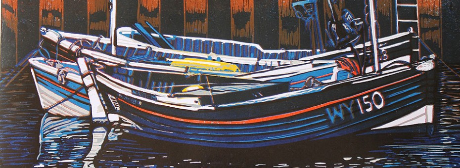 quayside mooring, artist high hesket cumbria, printmaker high hesket cumbria, illustrator high hesket cumbria, janice early, rookery studio